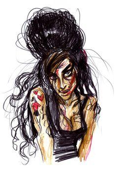 Portrait of Amy Winehouse Amy Winehouse, Illustrations, Portrait, Anime, Poster, Headshot Photography, Illustration, Portrait Paintings, Cartoon Movies