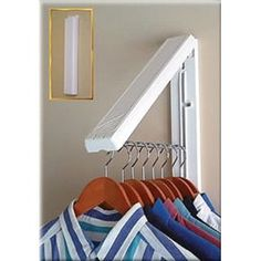 Arrow Hanger Instahanger Clothes Hanging System Organize the laundry room or utility closet Dry or freshen clothes outside Maximize your existing closet space Add creative clothes storage to RVs and boats Unique design Laundry Closet Organization, Closet Storage, Home Organization, Laundry Organizer, Rv Storage, Laundry Room Drying Rack, Storage Ideas, Drying Racks, Organizing Tips