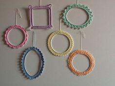 Frame Wall Decor, Frames On Wall, Crochet Earrings, Shabby, Crafty, Personalized Items, Wood, Ideas, Pune