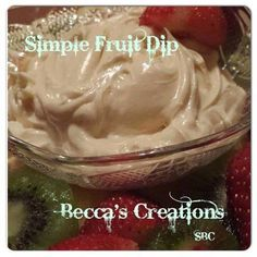 Super easy! Only 3 ingredients!  SIMPLE FRUIT DIP Directions: 8oz cream cheese ( full fat) 1/2 TBS real vanilla 1/4 cup honey Mix ingredients with beaters until whipped. Serve with fruit of choice. (¯`v´¯)  `*.¸.*´ ¸.•´¸.•*¨) ¸.•*¨) (¸.•´ (¸.•´ .•´ ¸¸.•¨¯`•.•:*¨¨*:•..•:*¨¨*:•..•:*¨¨*:•..•... ┊  ┊  ☆  ┊  ★ ☆ FRIEND OR FOLLOW ME! I am always posting awesome stuff!  FOLLOW ME ON FACEBOOK I am always posting awesome stuff!  https://www.facebook.com/michele.wrecsics.7.  ┊ ┊ ★Lose Weight Now…