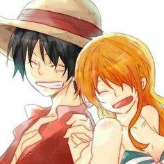 Luffy and Nami _One Piece One Piece Ship, Nami One Piece, One Piece Manga, One Piece Cosplay, One Piece Fanart, Luffy X Nami, Pastel Sky, Monkey D Luffy, Nalu