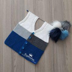 Best 11 loyda garciaola's media content and analytics – SkillOfKing. Crochet Baby Jacket, Crochet Blouse, Knit Vest, Knit Crochet, Baby Knitting Patterns, Knitting Stitches, Kids Ethnic Wear, Baby Coat, Moda Emo