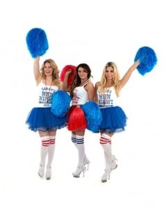 Fancy Dress Cheerleader Over The Knee Socks Cheerleader Fancy Dress,  Cheerleader Costume, Hen Party