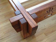 Asian Inspired Platform Bed frame for dog bed