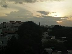Cloudy sunset of cool Bangalore June evening