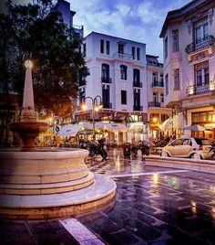 Ladadika, Thessaloniki Greece Only within 5 minutes walk from Aristotelous sqr… Mykonos, Wonderful Places, Beautiful Places, The Places Youll Go, Places To Visit, Macedonia Greece, Greece Pictures, Places In Greece, Greece Travel