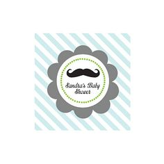 Little Man Party Personalized Favor Tags