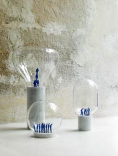 Desk Lamp 'Les Perchees' by Elise Gabriel at Design Days Dubai 2014   http://www.yellowtrace.com.au/design-days-dubai-2014/