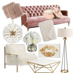 Pink fusion by evelyn-anita on Polyvore featuring interior, interiors, interior design, home, home decor, interior decorating, Anthropologie, Axel, Nuevo and Arteriors
