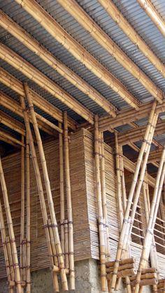 Handmade School in Rudrapur METI - Archkids. Architecture for children. Detail Architecture, Innovative Architecture, Bamboo Architecture, Vernacular Architecture, Sustainable Architecture, Interior Architecture, Tectonic Architecture, Bamboo Roof, Bamboo Art