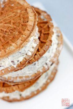 Stracciatella Ice Cream Sandwiches on dessertfirstgirl.com