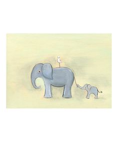 Take a look at this Elephant Family Print by Creative Thursday on #zulily today!