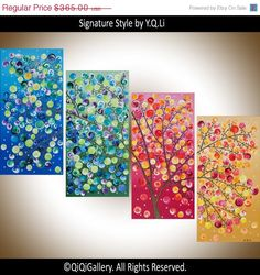 Original art Large Abstract Painting Landscape by QiQiGallery, $310.25