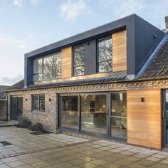 One of our projects featuring a new large contemporary dormer extension with replacement windows and cedar cladding infills to the existing… House Extension Design, Extension Designs, Roof Extension, Cedar Cladding, House Cladding, Dormer Roof, Dormer Windows, Bungalow Extensions, House Extensions