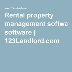 Rental property management software | 123Landlord.com