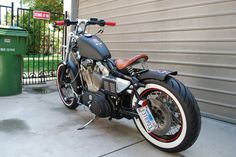 how to build a sportster bobber | Final step was the HotWires red plug wires… and a spiked gas cap..