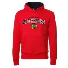 Chicago Blackhawks Red Playbook Contrast Hood by Reebok | Sports World Chicago $49.95 #BlackHawks #ChicagoBlackhawks