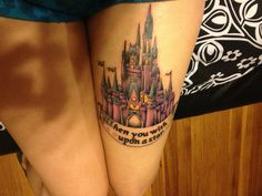 honestly, i don't even feel the need to explain myself. disney will always be a huge part of my life. it'snot completely done; i have to go back to get some white to highlight certain areas, and have the banner finished. done by courtney raimondi @ dakota ink (long island, east islip, NY)  submitted bysummerflowers