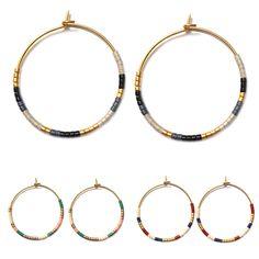 Miyuki oorbellen € 12,50 Diy Jewelry, Jewelry Making, Jewellery, Diy Earrings, Hoop Earrings, Beads, Headpieces, Bracelets, Instagram Posts