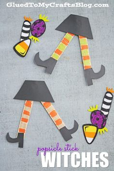 Popsicle Stick Witches - Kid Craft