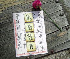Wedding favor magnets Vintage sign language love by fireflynotes, $5.00