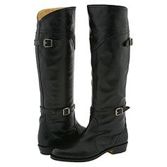 frye dorado riding boot in black. perfect neutral flat boot to tuck my jeans and tights into. i'll wear these for decades. awesome birthday gift :)