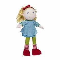 Jeans Shirt Leder Jacke  für Puppen HABA friends Gr 30 cm Lilli Nele
