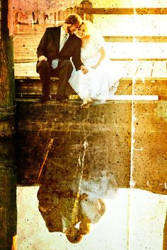 Aged photo of bride and groom | Matt Mason Photography | Lake Geneva, WI