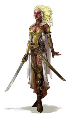 Aranasti- ( Trina ) - Fire Genasi; Champion of House Deepwell; Paladin of Sune