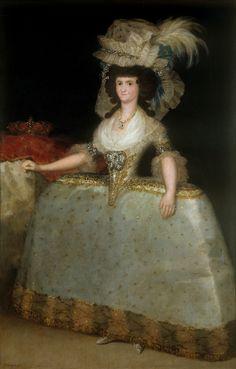 ca. 1789 Maria Luisa de Parma con tontillo by Francisco Jose de Goya y Lucientes (Museo Nacional del Prado - Madrid Spain) | Grand Ladies | gogm