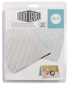 We R Memory Keepers - Next Level Embossing Folders - Quilted