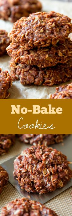 My family's favorite recipe for super easy no-bake cookies! No fuss at all and they're completely addictive!