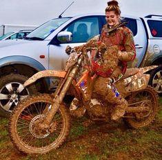 Sport bikes will never be just meant for men Moto Ktm, Scrambler Motorcycle, Motorcycle Touring, Motorcross Bike, Motorbike Girl, Honda, Fille Et Dirt Bike, Triumph Motorcycles, Custom Motorcycles