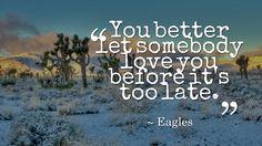 Desperado... #classicrock #Eagles #Lyrics