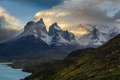 Sunset on Los Cuernos by Sylvain Guieu (Torres Del Paine, Patagonia)