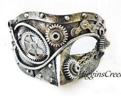 Bronzo Steampunk Metalic Silver maschera del di HigginsCreek