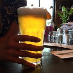 Drinking a Le Cheval Blanche at Mange-moi in Montreal  #craftbeer #beer