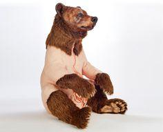 bear sculptures by deborah simon show a species under threat