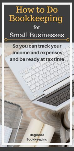 for Small Businesses Bookkeeping for small businesses, helping you with how to track income and expenses so you can be ready at tax time.Bookkeeping for small businesses, helping you with how to track income and expenses so you can be ready at tax time. Small Business Bookkeeping, Small Business Help, Bookkeeping And Accounting, Small Business Accounting, Business Education, Business Tips, Business School, Business Marketing, Financial Accounting