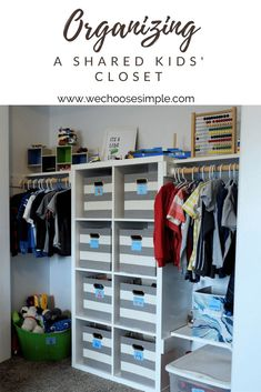 Organizing a Shared Closet For Kids Is Easier Than You Think. Organizing A Shared Bedroom Shared Boys Rooms, Kids Bedroom Boys, Shared Bedrooms, Boy Room, Box Room Bedroom Ideas For Kids, Kids Rooms, Small Shared Bedroom, Shared Closet, Boys Closet