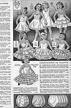 LITTLE VINTAGE: Little Story : les dessous des petits dessous vintage enfant