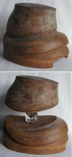 antique hat block--gosh, I would just like to have this sitting on my library table!