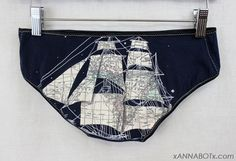 Extra Small  Map Ship  Low Rise Panties Knickers by xannabotx, $12.00