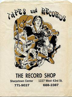 West 43rd Street! Vintage record shop bag.