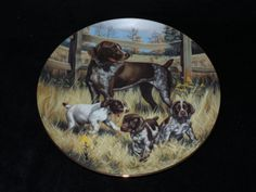 "1989 Hamilton Collection Classic Sporting Dogs ""German Shorthaired Pointers""…"