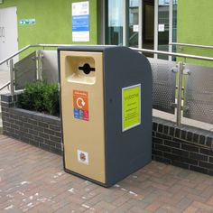 This Recyclo wheelie bin cover has solar powered audio playback! Every time you deposit some litter, it talks to you! http://www.wybone.co.uk/news/talking-recyclo-wheelie-bin-cover/