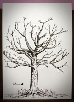 Obrazy Romana : Svatební strom hostů (tuš/čtvrtka A2)
