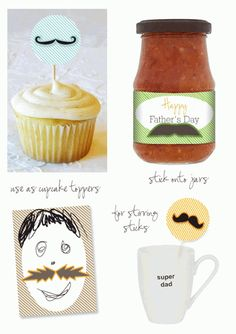 Moustache Printable Ideas | Chic Mother & Baby Blog {daily}