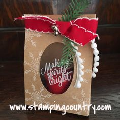 Making Holiday Decor & Gifts, Pretty Pines, Tin of Tags, Gift Bag Punch Board, Stampin' Up!