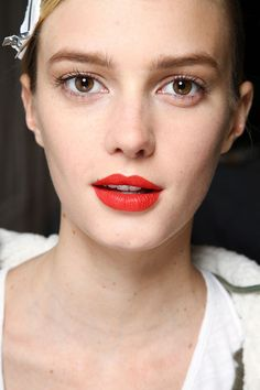 Make-up by Dick Page for Shiseido. Marc by Marc Jacobs Fall 2012